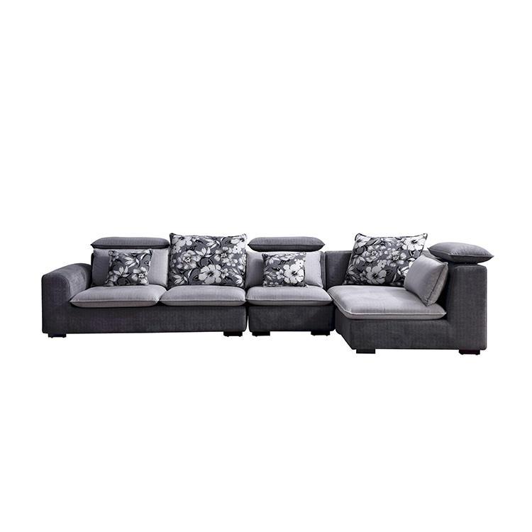 BY8090 venta al por mayor de muebles para el hogar material de la tela de la esquina de corte transversal en forma de l nuevo modelo sofá conjuntos para la habitación