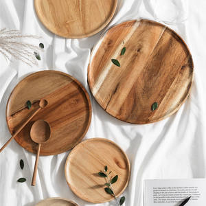 OEM ODM Amazon sells round wooden trays