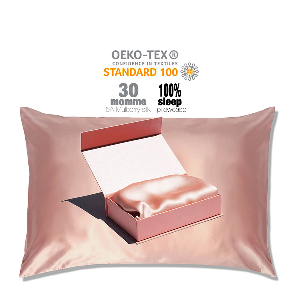Hot Sale Gift Items Silk Pillowcase Good For Hair and Skin 100% Mulberry organic Silk Pillow Case and eye mask sets