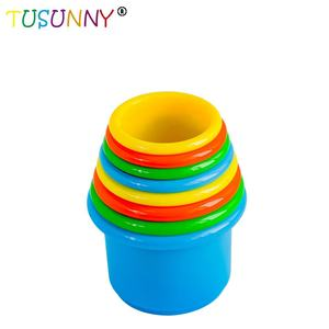 8 pcs Nesting Stack up Cups Baby Kid Stacking Cups Toy