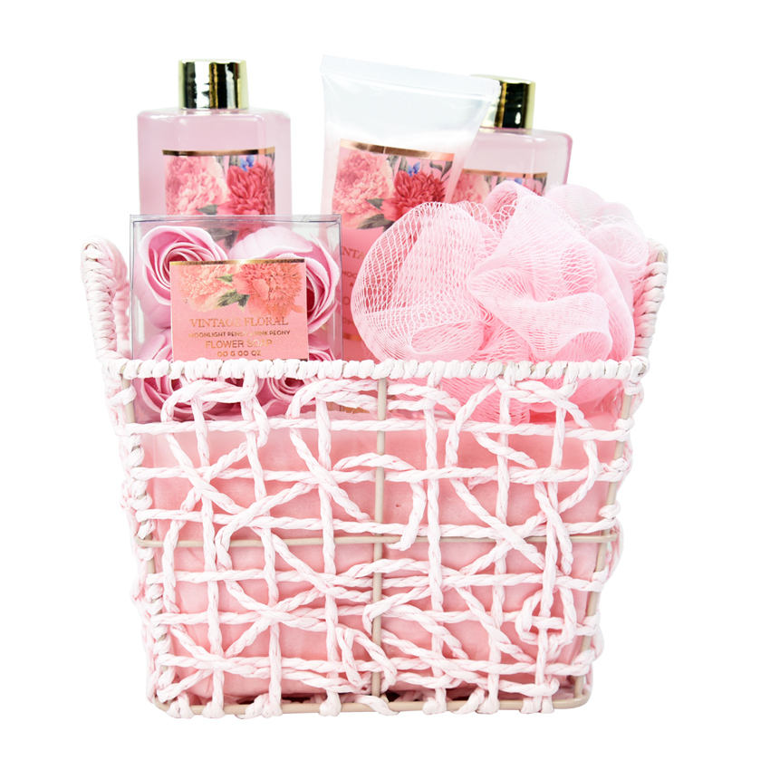 wholesale high quality body care kit bath spa natural gift basket set