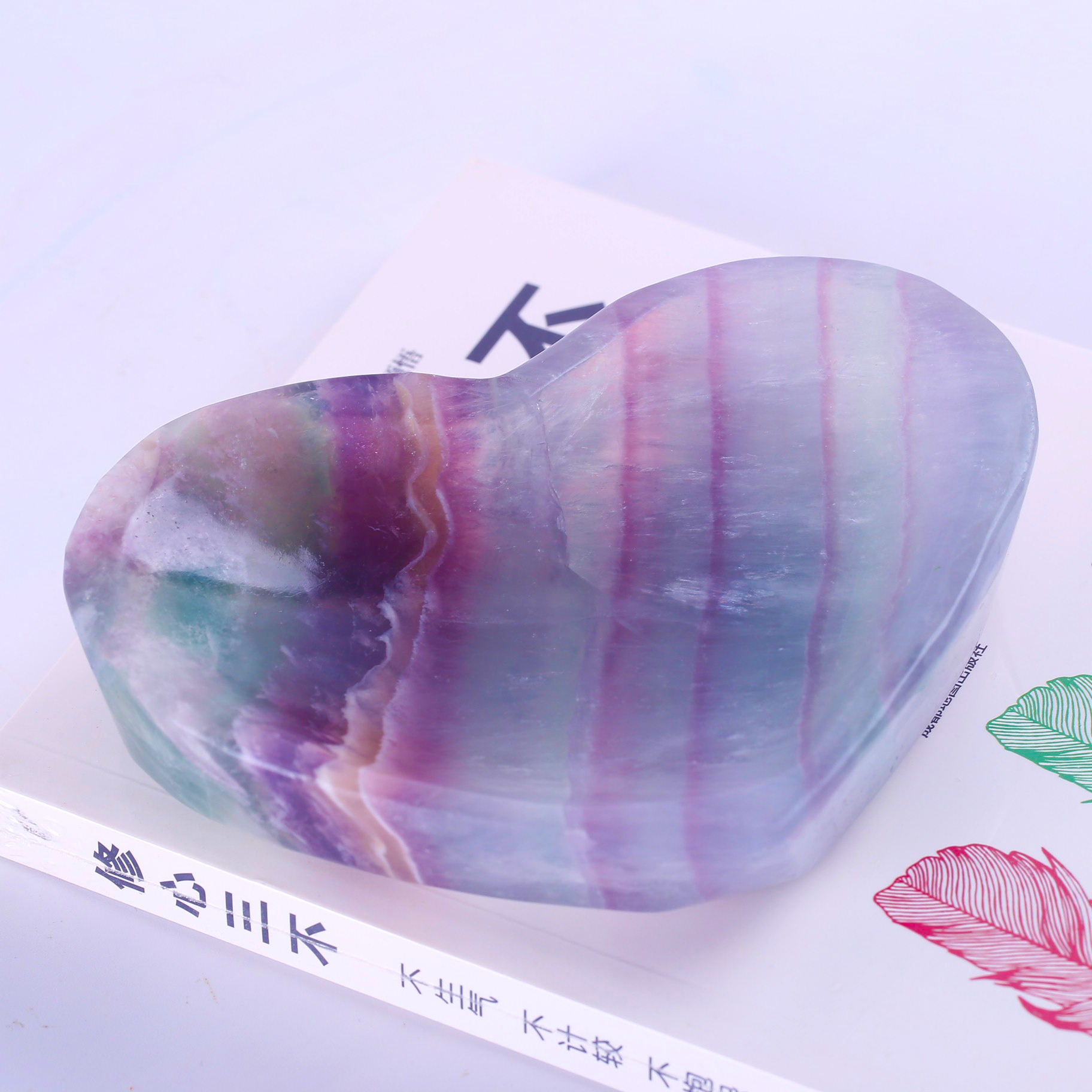 Wholesale Sales Of High Quality Natural Stone Blue Fluorite Ashtray Fluorite Crystal