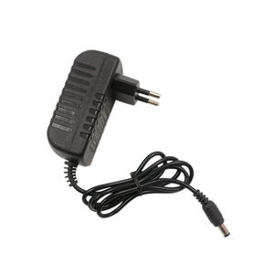 100-240V AC 50/60HZ ABS Material black china AC/DC adapter input for monitoring camera 12V 1A EU power adapter