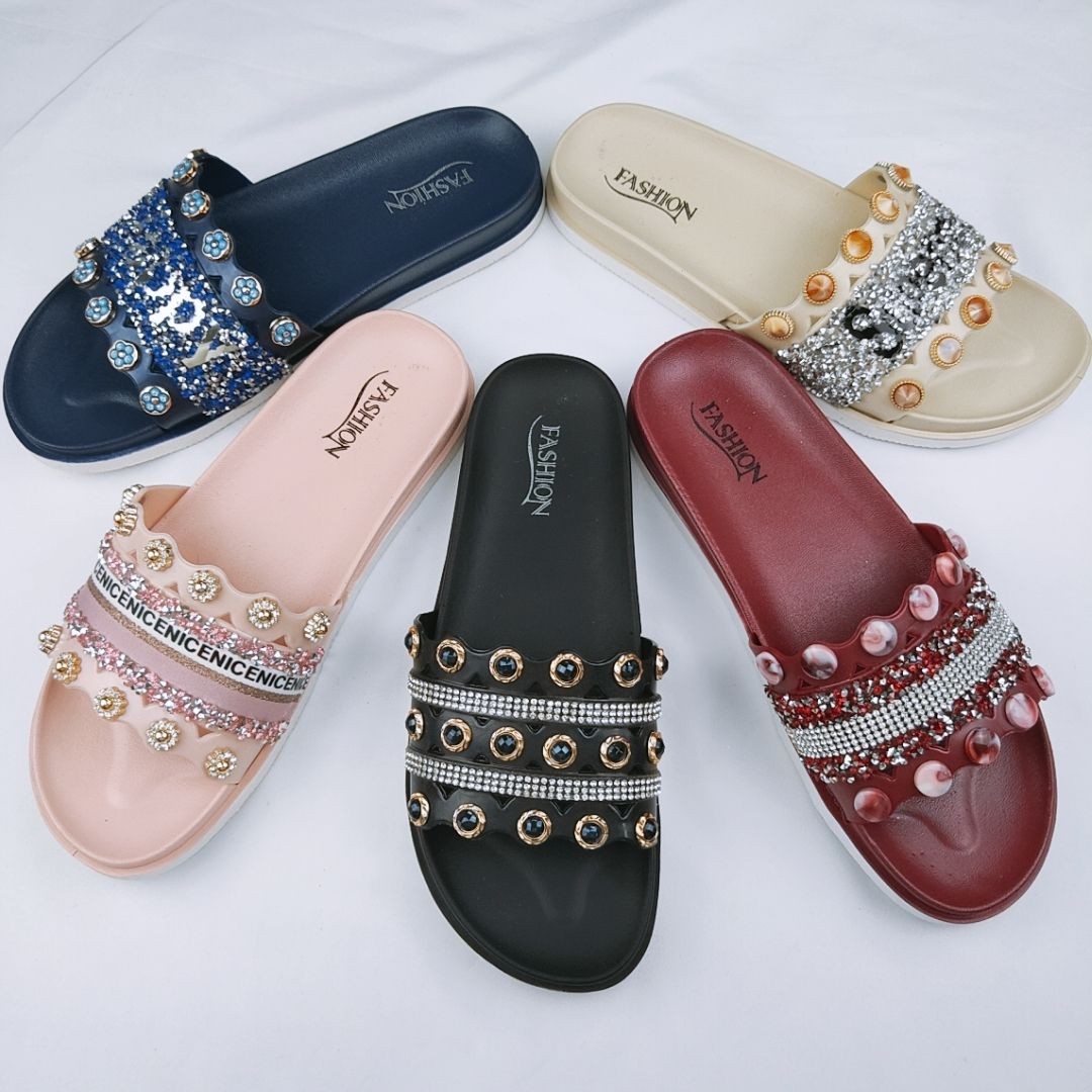 2020 Ready to ship new Fashion Fast Custom Logo women flat slippers