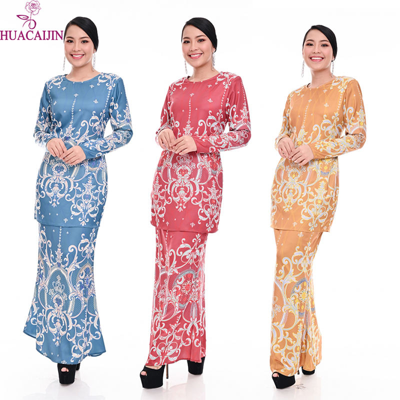 Hot Sell Baju Kurung Dress Kaftan Muslim Hijab Woman Islamic Jubah Muslimah Wholesale Muslim Clothing
