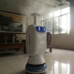 The latest intelligent spray sterilizing robot service robot Humanoid Assistant Artificial robot Human Interactive
