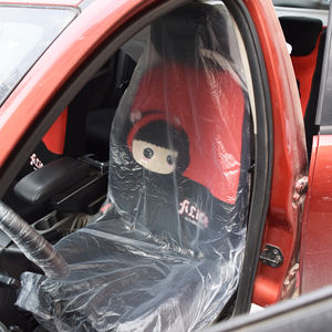 Factory price customized printing promotion logo waterproof car disposable seat cover front