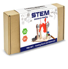 STEM DIY 3D wooden wind power generation Physical Learning Toy Science Experiments Kits,STEM Learning Sets