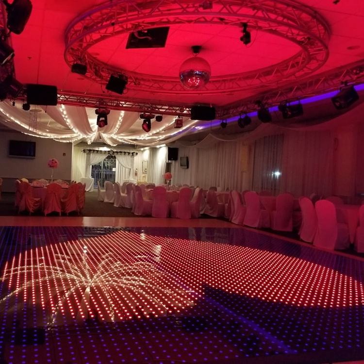 Stage Lighting Up 20x20ft Pixel Wireless Led Tile Magnetic Digital Dance Floor