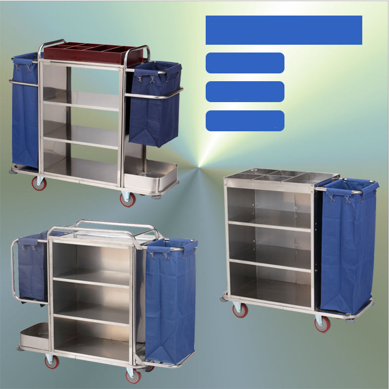 Commercial Restaurant Housekeeping Cleaning Trolley