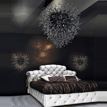 Modern black chihuly glass ceiling chandeliers for the bedroom