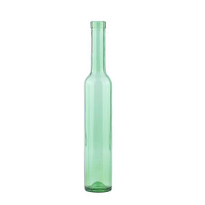 Green Ice Wine 375ml Glass Bottle Fruit Wine Bottle with Cork Stoppers