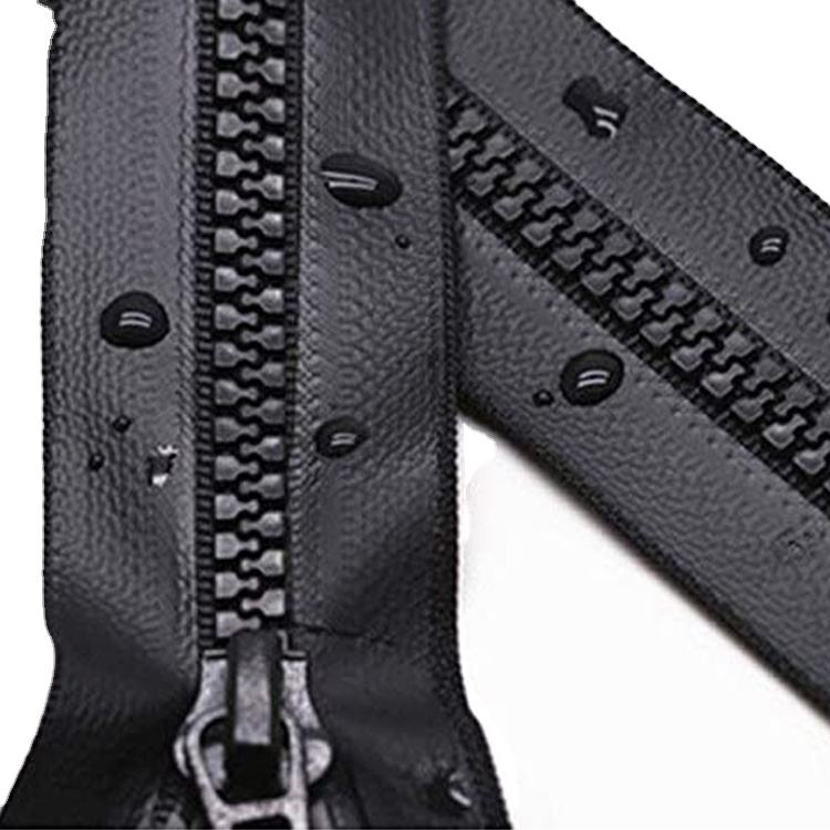 No.8 Open Tail Custom Work Clothes Spring And Autumn Zipper Resin Waterproof Zipper