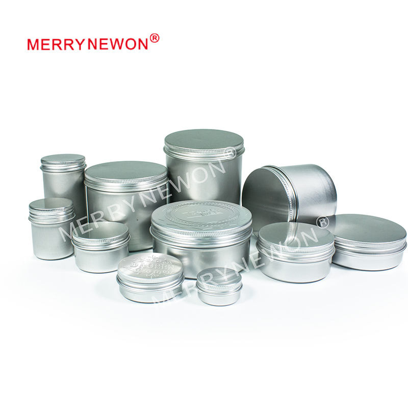 24 X Steel Round Tin s 50g Screw Top Lid Storage Beard Lip Balm Empty   -