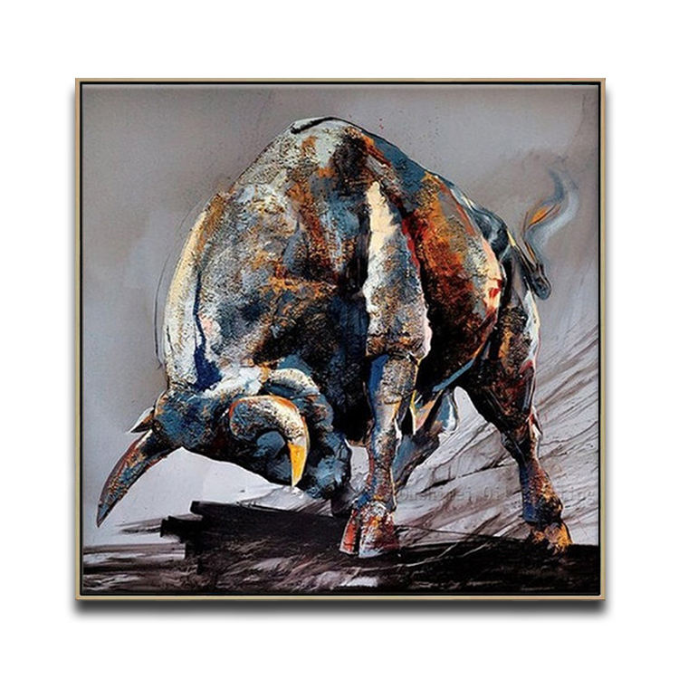 Black And White Animal Oil Painting Modern Wall Hanging Decor Art Picture Home Decoration On Canvas