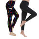Custom 215gsm 92%polyester 8%spandex Black Leggings with pocket Brushed Water Print Fashion Bulk Leggings