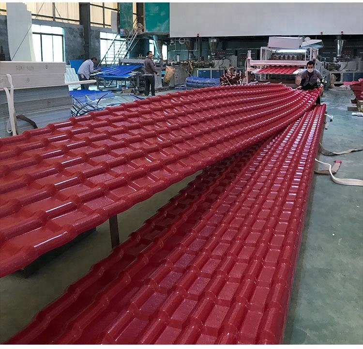 Recycled rubber roof tiles / plastic roof tile terracotta / Roman tile roof