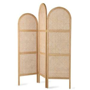 Mayco Antique White Folding Cheap Decorative Interior Curved Wood Screen Room Divider
