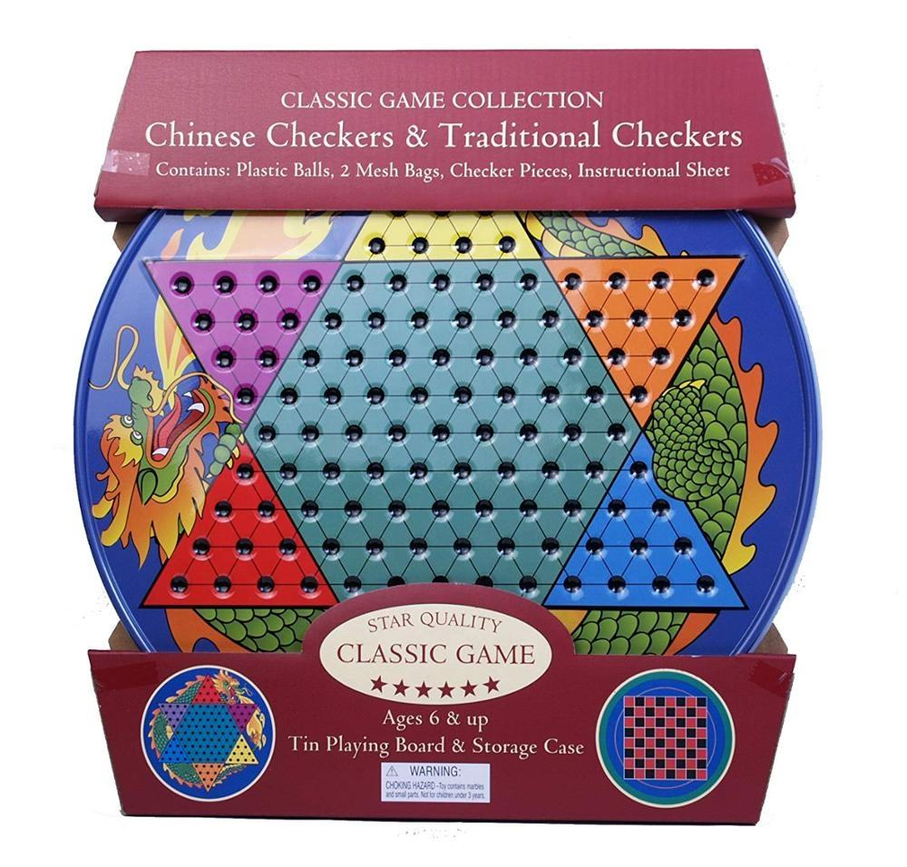 Blikken Doos Metalen Bordspel <span class=keywords><strong>Checkers</strong></span> en Chinese <span class=keywords><strong>Checkers</strong></span>