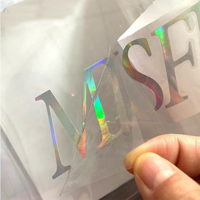 cheap custom printing removable adhesive vinyl sticker transfer die cut logo holographic sticker