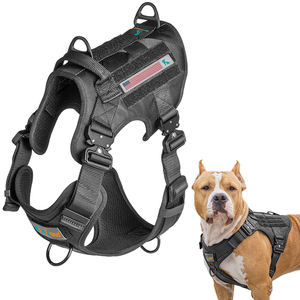 Blank Black Combat Xxl Large Breed Tactical Military Operation Heavy Duty No Pull Vest Adjustable Dog Harness
