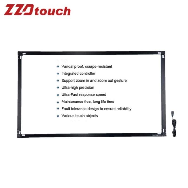 46 inch interactive infrared ir diy customized multi touch frame screen sensor panel overlay screen kit whiteboard kiosk