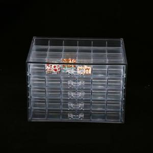 2020 New Arrivals Acrylic Nail Art Display Storage Box Acrylic Lipstick Display Stand Box Acrylic Jewelry Display Case Box