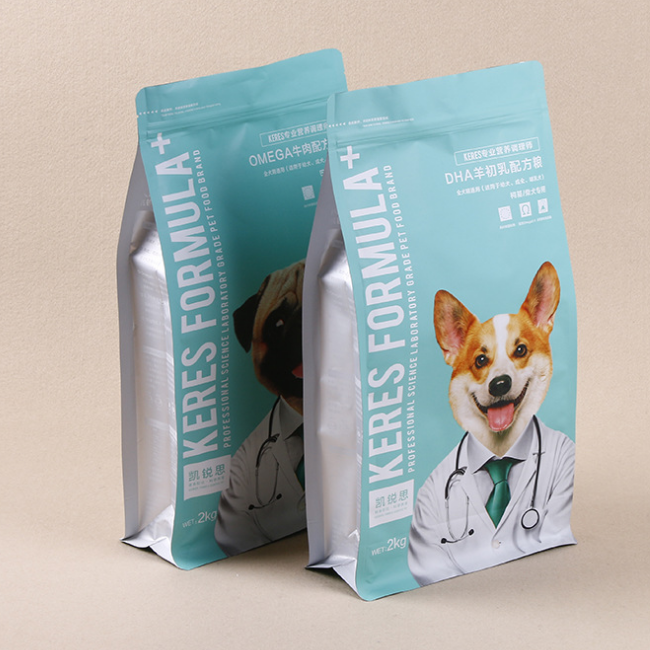 Customized pet dog food cat food composite zipper eight-side seal food packaging bag