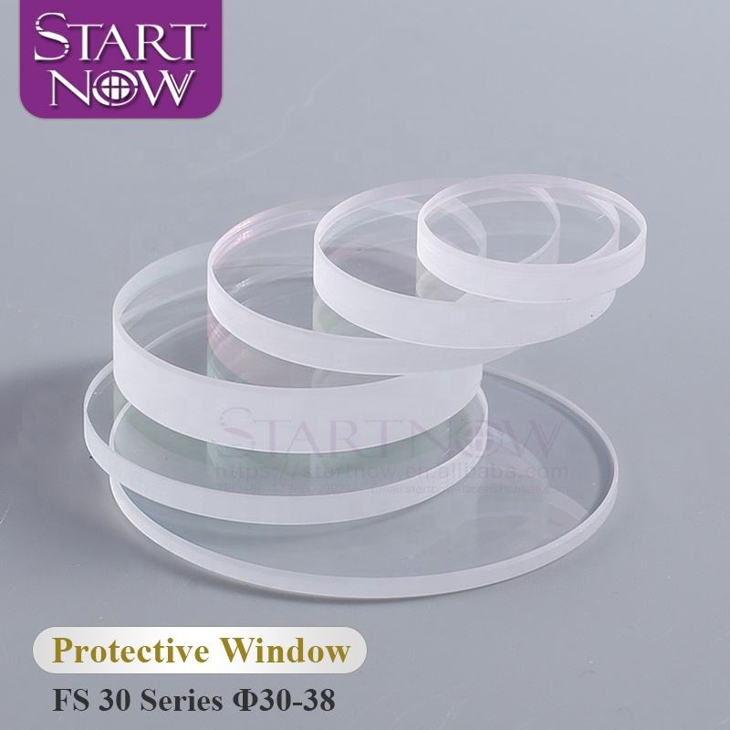 Startnow 30-38mm Series Fused Silica Laser Protective Lens 30x5 Quartz Protection Window