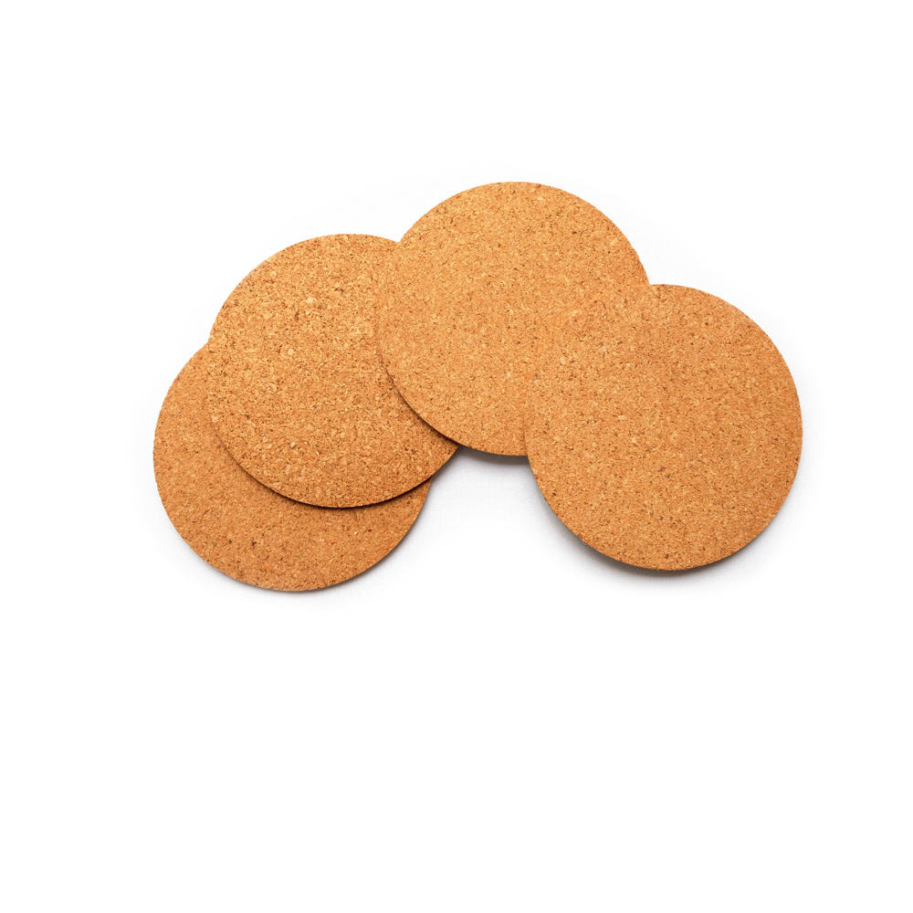 Eco Friendly Natural Tableware Round Cork Coasters Hot Pads