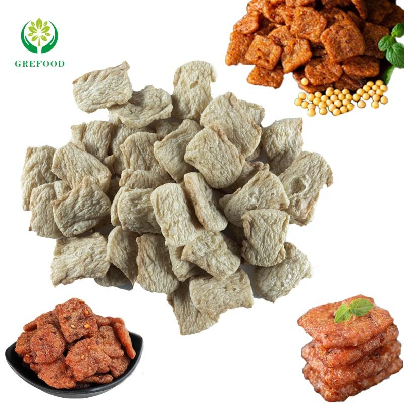 MUI TVP Snack Food TVP textured soy protein manufacturer wholesale protein vegetarian meat Hamburger low fat Chicken Nuggets TVP