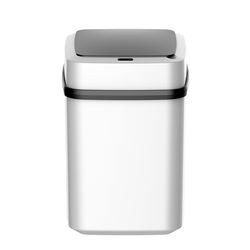 Plastic Automatic Trash Can , Wide Opening Sensor Kitchen Trash Bin, Powered by Batteries (not included) or Optional AC Adapter