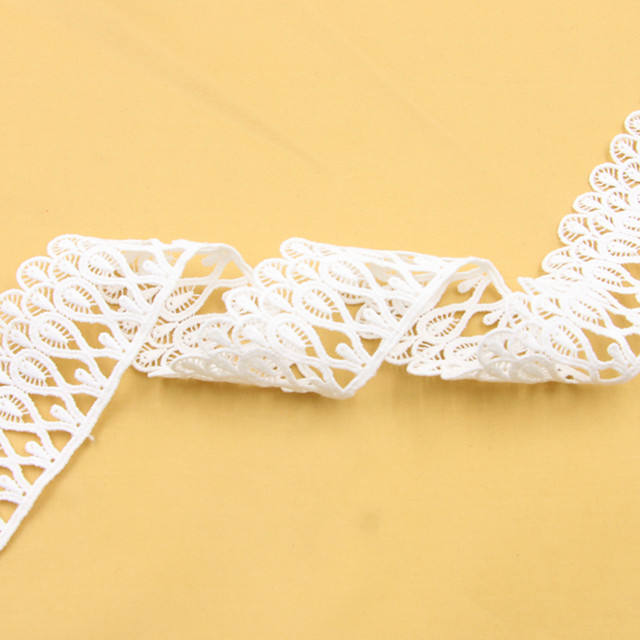 New women's dress cuffs with 4.5cm wide lace water soluble lace from Guangzhou clothing accessories