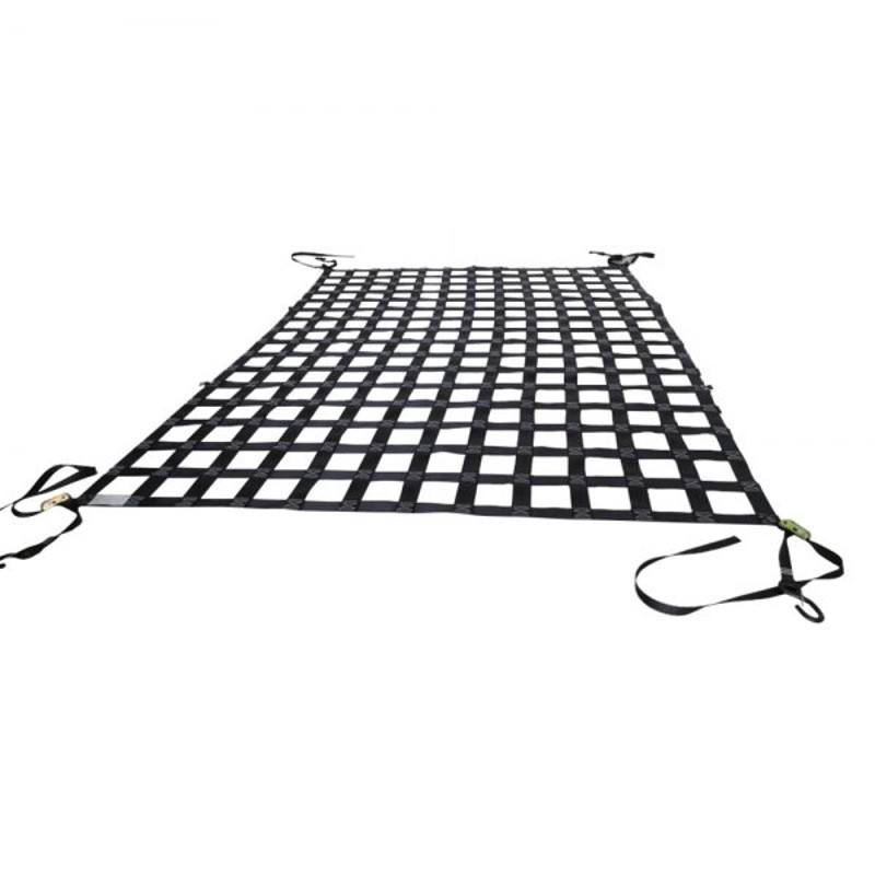 Intop heavy duty UV stabilised cheap price polyester webbing cargo net for sale