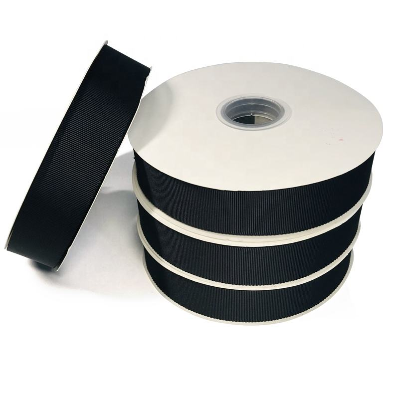 Hot Sales 32mm Black Rayon Petersham Ribbon