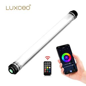 LUXCEO P7RGB Pro APP Control Underwater Photography Lighting 1000Lux CRI 97 Rechargeable Handheld Tube RGB Color LED Video Light
