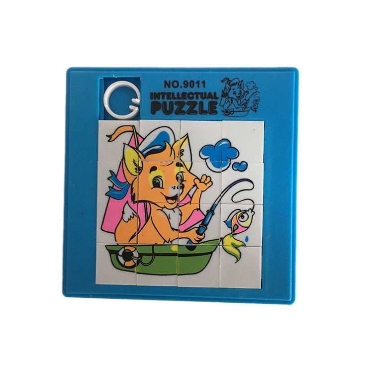 Customized Educational Cartoon Animal Design Puzzle Slide Mini Plastic Sliding Puzzle Game Kids