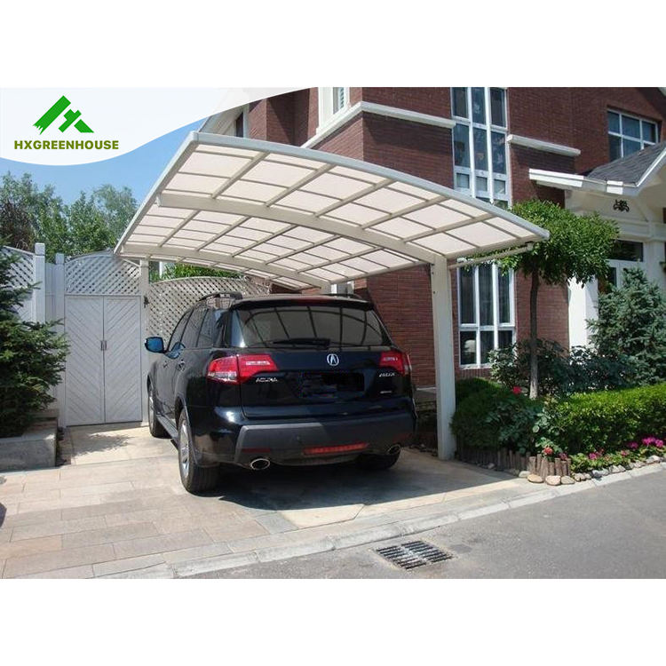 3x11m water proof polycarbonate aluminium 2 car used carports for sale HX113
