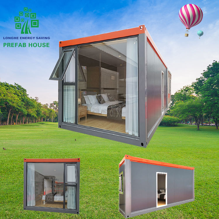 Houses Low Cost Prefabricated Container Prefabricated House Furnished Container Home Wooden Deck Portable House