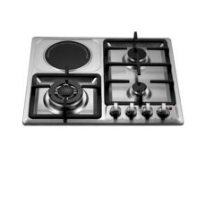 Kitchen appliance double use built in gas hob electric stove