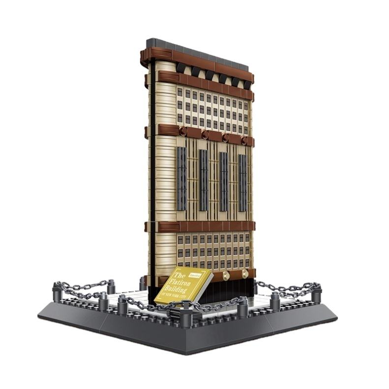 The Flatiron Building Of New York Architecture Model Blocks Toys For Kids legoing