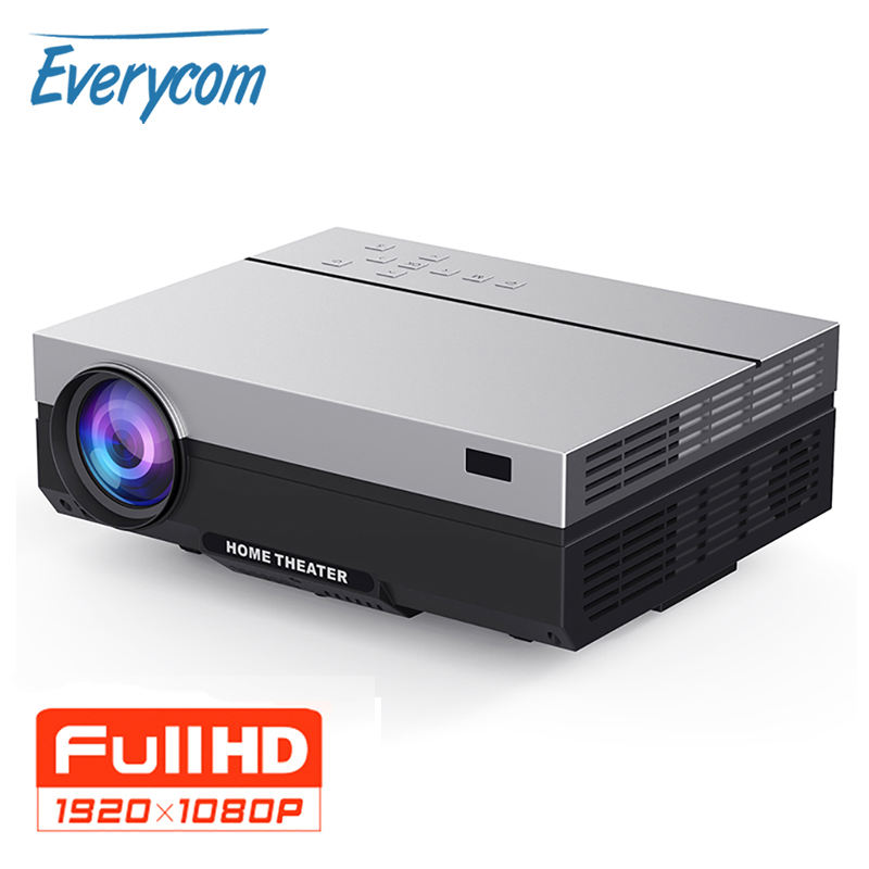 Everycom ufficiale T26L Proiettore Full HD 1920x1080P Portatile 5500 Lumen Beamer Video Proiettore LED Home Theater Film