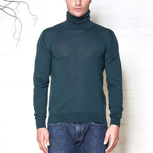 2020 OEM Custom Quality Fashion Design High Neck Pullover Low Pilling Man Merino Wool Turtleneck Sweater Men