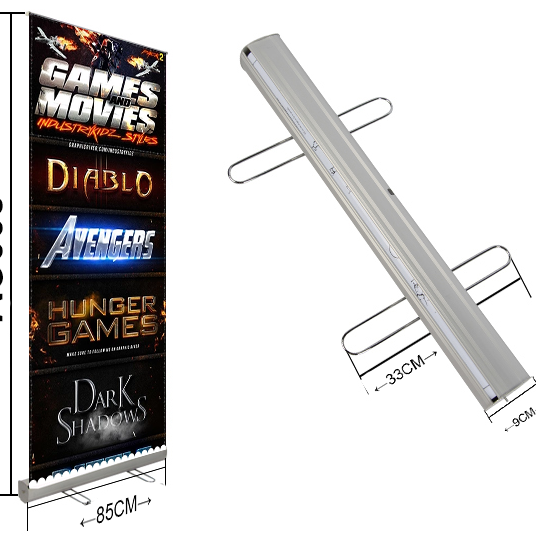Reclame display outdoor Stand up display standaard roll up banner met stalen voeten