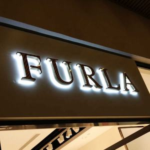 Custom shop front signage high quality 3d LED backlit letter sign