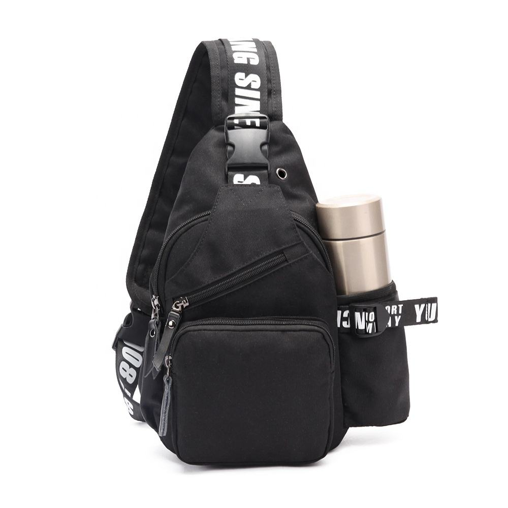 Promising custom single shoulder messenger bag waterproof travel sports backpack chest sling bag women men bags cross body