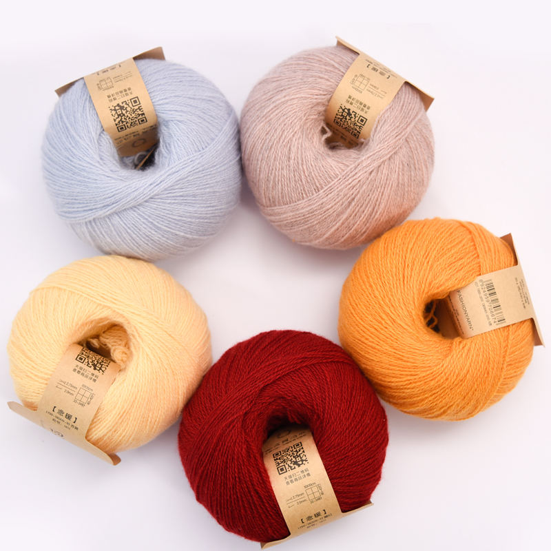 OEM 100% cashmere needles brand knitting yarn free patterns knitted hats scarves cashmere knitted yarn