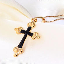 31346-Xuping Custom religion jewelry common 18k pendant cross