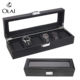 Wholesale 2 3 6 10 12 20 24 slot Brown PU Leather Watch Packaging Box,Custom Color Leather Watch Storage Display Box Case