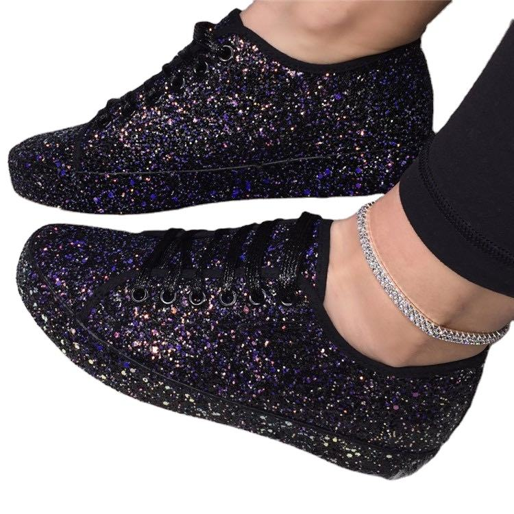 2020 new glittering shoes women hot sale of women's shoes casual flat sequin sport shoes ladies